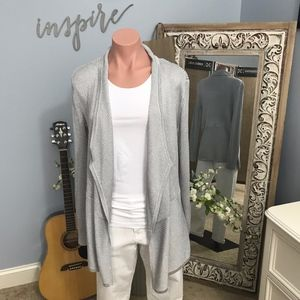 WHBM Silver Open Front Cardigan Size Medium